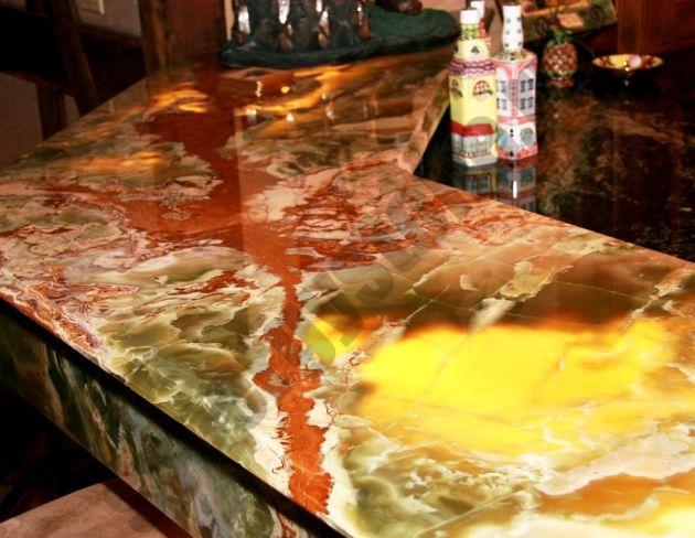 stoleshnitsa iz oniksa - Столешницы из оникса