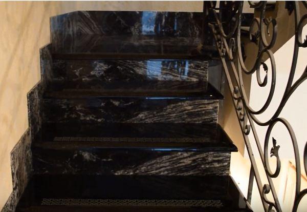 granit lestniza - Гранитные лестницы, ступени в частном доме